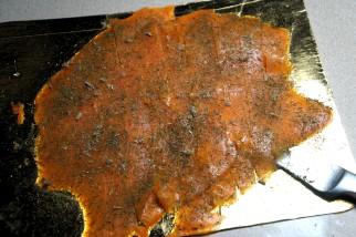 Fragile flesh so lift carefully to drying tray.